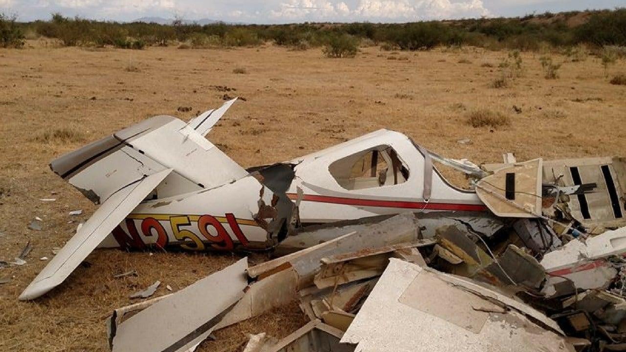Plane crash near Willcox, AZ. Oct. 19, 2017 (Source: Cochise County Sheriff Office)