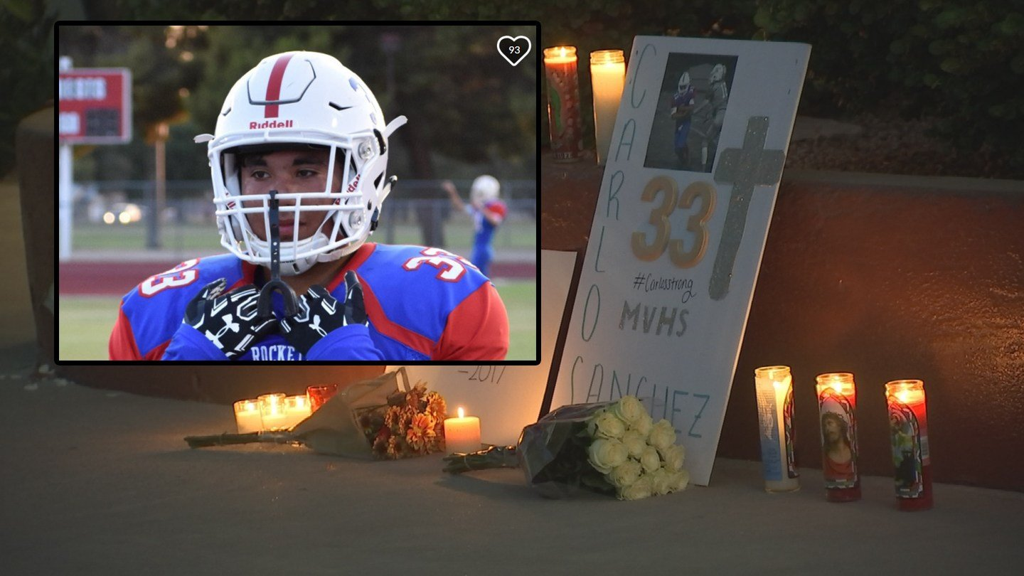 High school football player, Carlos Sanchez, who died over the weekend after collapsing on the field. (Source: 3TV/CBS 5)