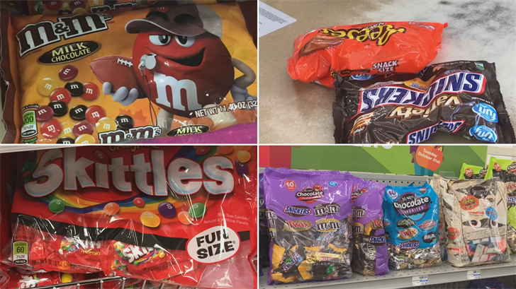 3 On Your Side compared different candy bags to see which had the best bang for the buck. (Source: 3TV)