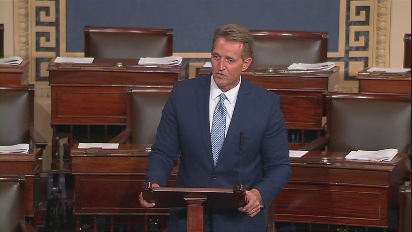 Sen. Flake announced on Tuesday that he will not seek re-election. (Source: C-SPAN2)