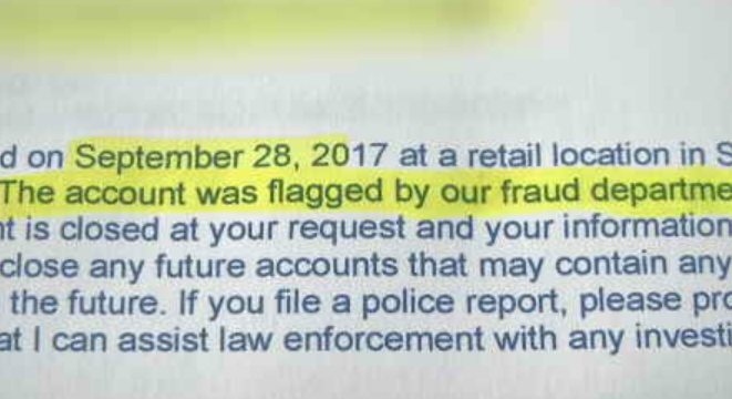 Wright says NetSpend also told him they initially flagged the card because it was opened in Georgia but mailed to Arizona. (Source: CBS 5)