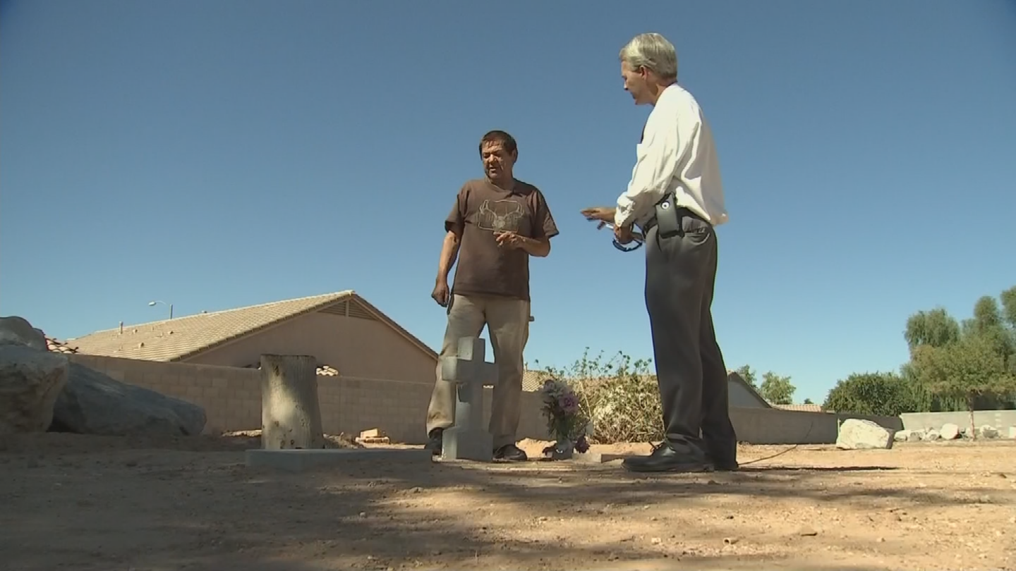 Jose Villela considers the cemetery a sacred place - not a prime location to host a big festival. (Source: 3TV/CBS 5)