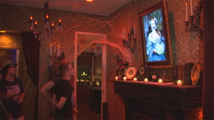 The spooky house was open on Tuesday night where the Hanuses collected donations for the music programs at Campo Verde High School in Gilbert. (Source: 3TV/CBS 5)