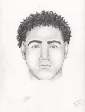 """The suspect is described as adark-skinnedman, between 18 and 25 years old, taller than 5'8"""" and was wearing a flannel shirt, baggy jeans and tennis shoes at the time of the 2014 attack. (Source: Chandler Police Department)"""
