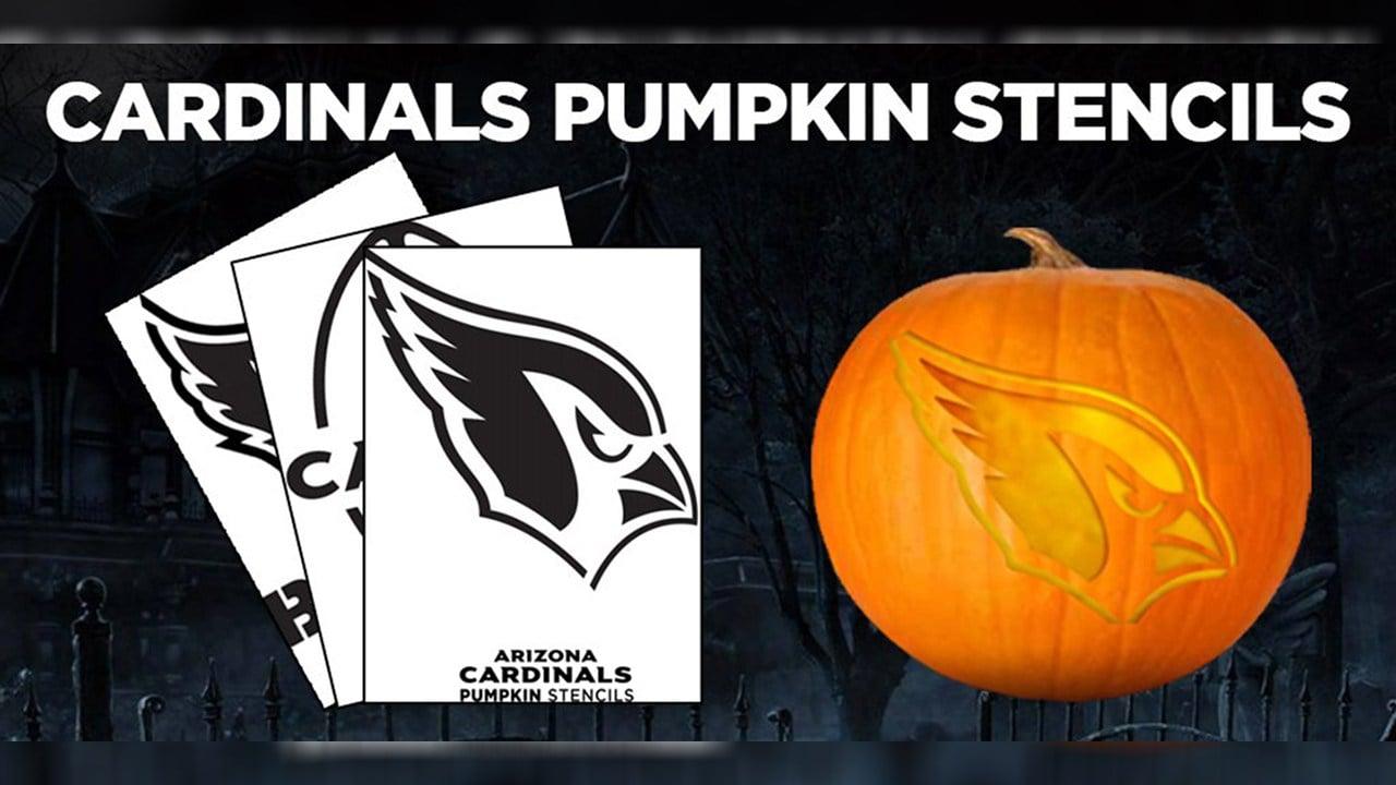 The Arizona Cardinals have stencils so your pumpkin can be Bird Gang-ready. (Source: Arizona Cardinals)