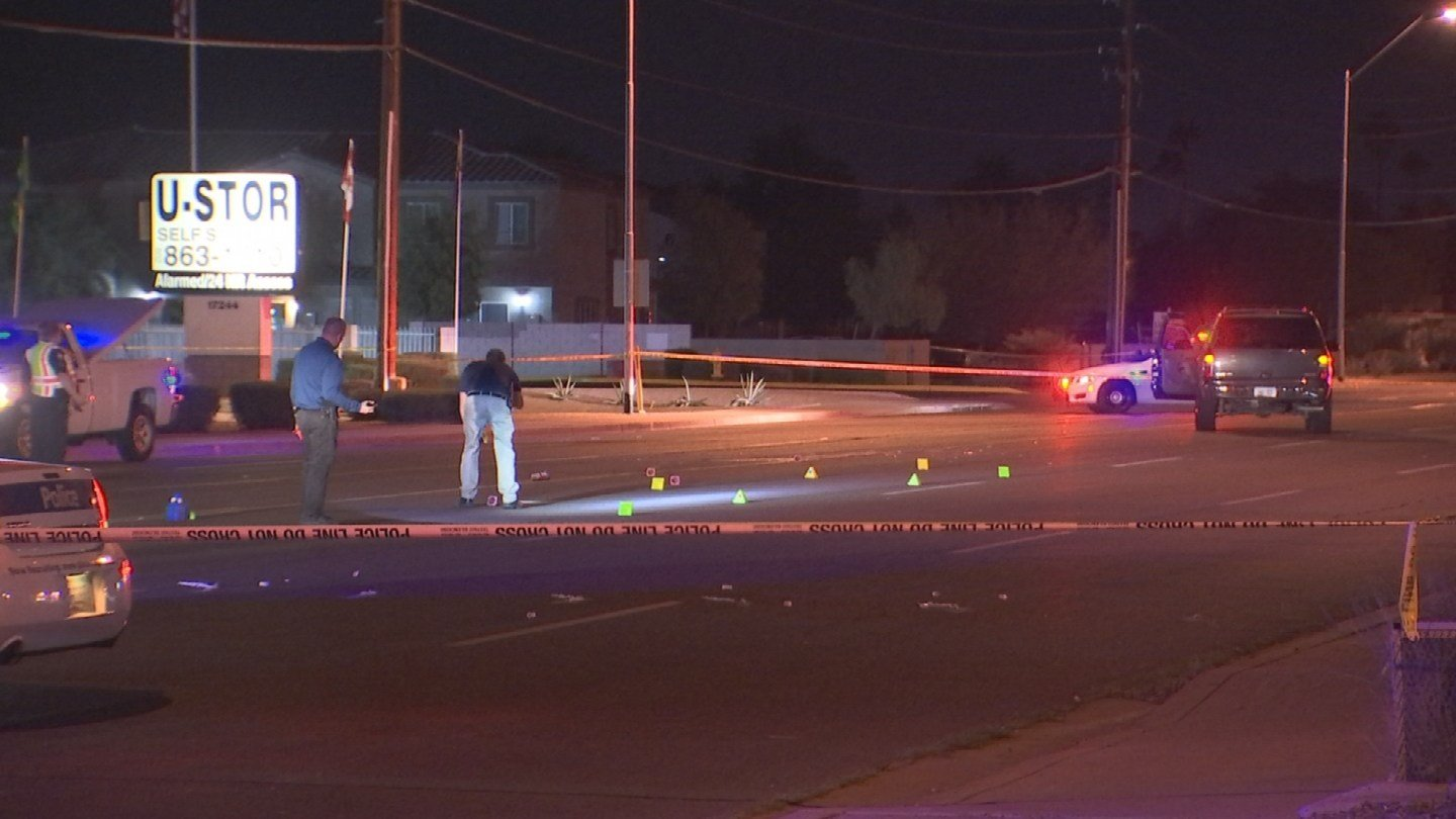 A man was struck and killed after crossing the street outside of a crosswalk in Phoenix late Wednesday night. (Source: 3TV/CBS 5)