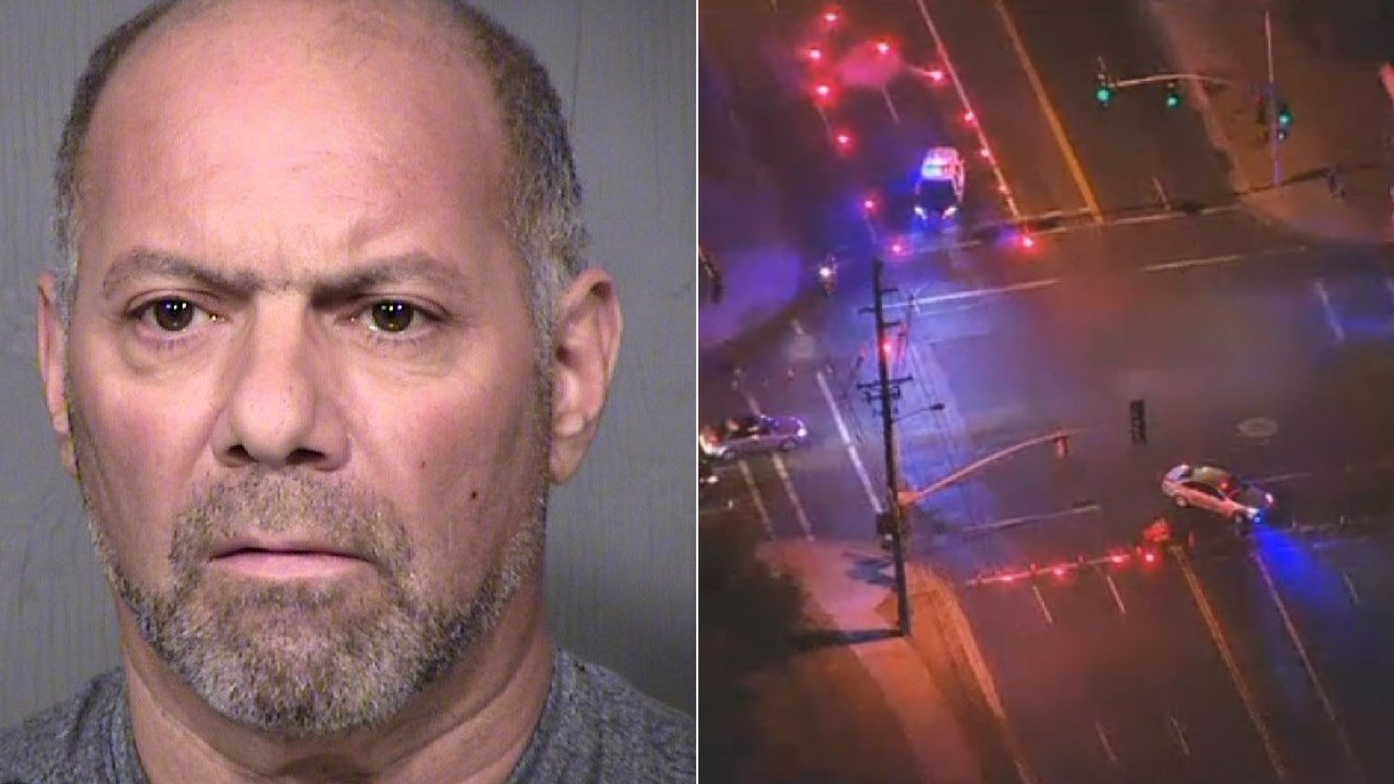 A wrong-way driver's blood alcohol level was more than twice the legal limit when he collided head-on with another vehicle, killing three in Tempe in early October. (Source: 3TV/CBS 5/MCSO)