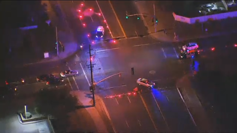 The area of Southern Avenue and Hardy Drive was shut down for hours while police investigated the collision. (Source: 3TV/CBS 5)