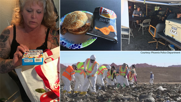 Diane Strand is coordinating hot lunches for landfill searchers who are looking for remains of Christine Mustafa. (Source: 3TV/CBS 5/Phoenix Police Department)