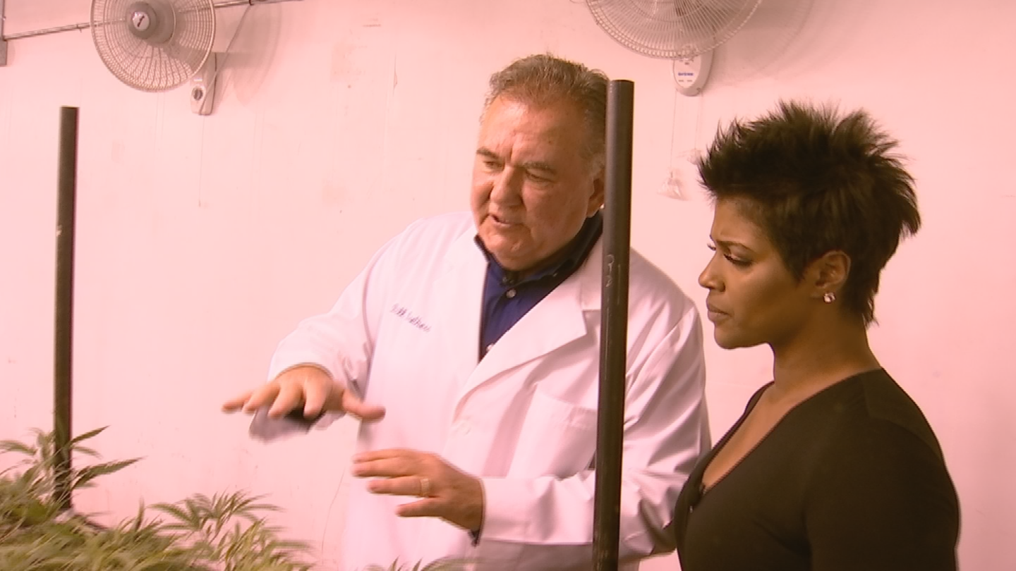 """""""Medical marijuana does exactly what needs to be done. It makes 'em laugh, it makes 'em smile, it makes 'em hungry,"""" says Brothers. (Source: 3TV/CBS 5)"""