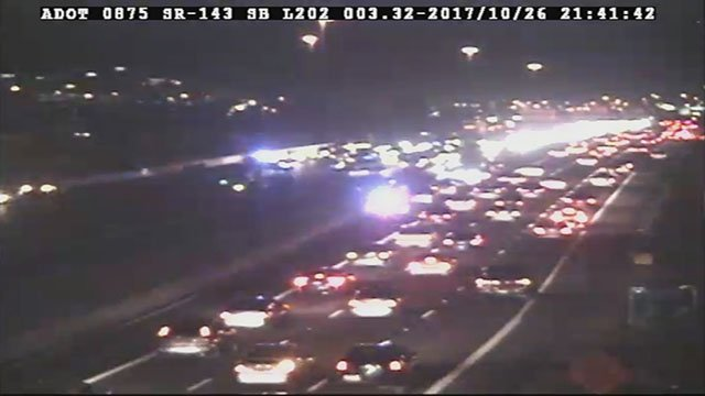 The collision closed eastbound Loop 202 at 44th Street for a few hours. (Source: ADOT)