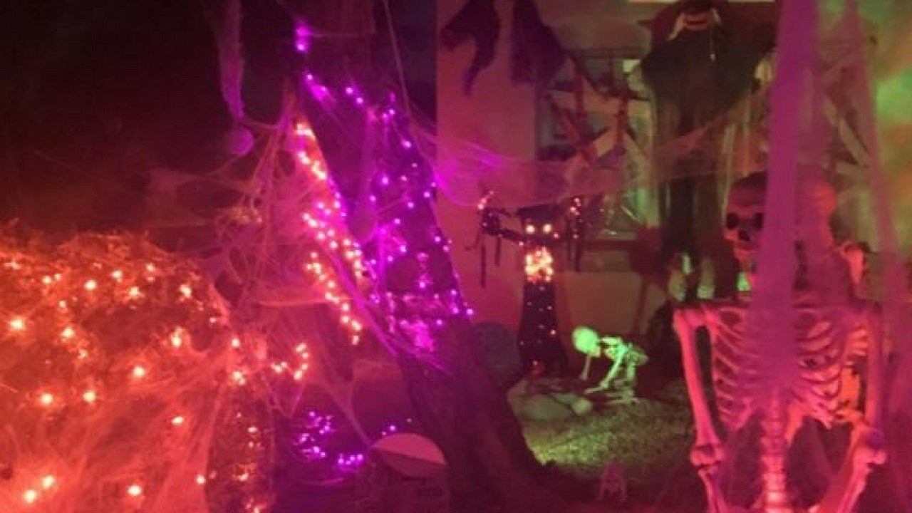 A Maricopa home is decorated for Halloween. 27 Oct. 2017 (Source: 3TV/CBS 5 News)