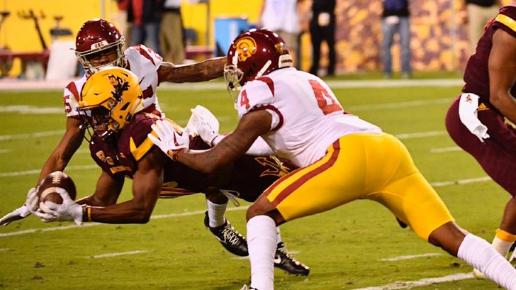 ASU WR Kyle Williams catches a touchdown against No. 21 USC (Photo: Sun Devil Athletics)
