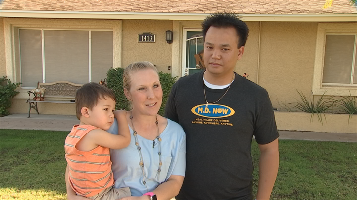 the Nguyen family says their Halloween decorations were stolen. (Source: 3TV/CBS 5)