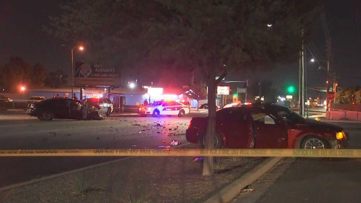 Phoenix fire transported one person in critical condition and two others in serious conditionafter a Phoenix crash. (Source: 3TV/CBS 5)