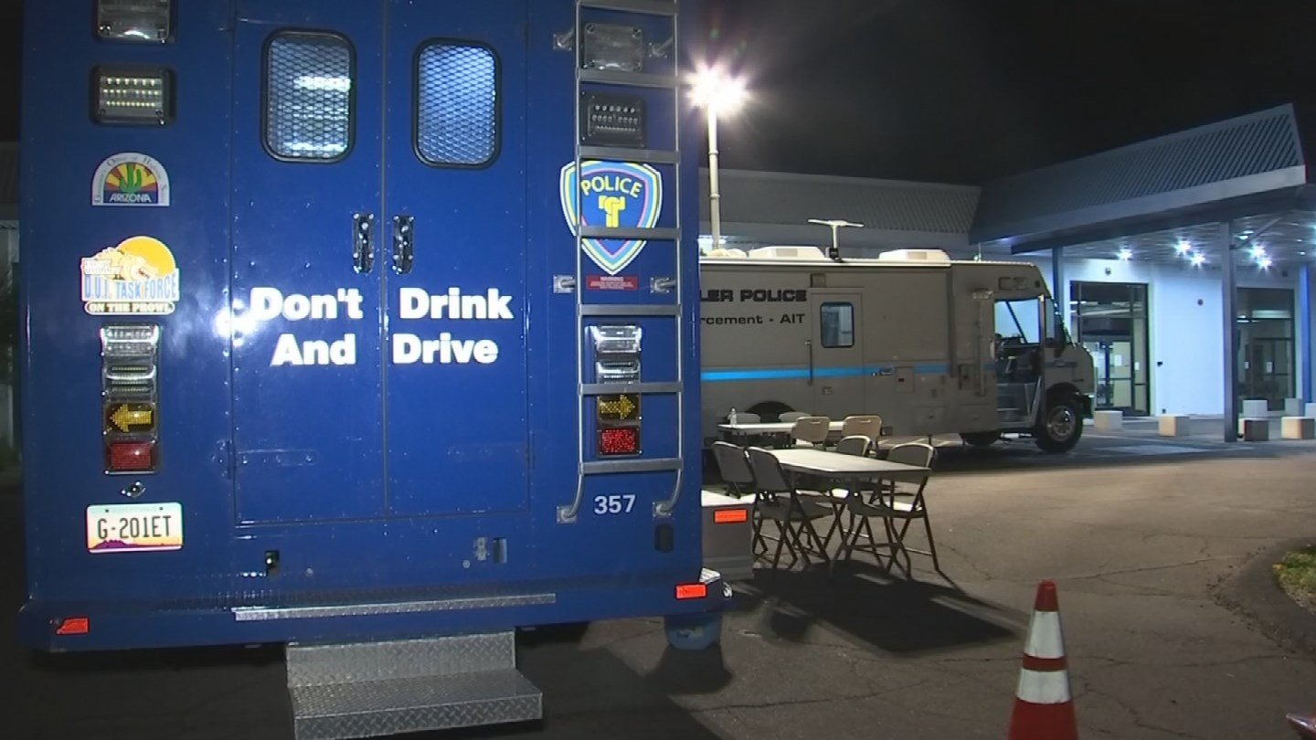 Departments from Scottsdale, Chandler, Mesa and Tempe, with help from the Maricopa County Sheriff's Office, will all be working together to prevent drunk driving through Tuesday night. (Source: 3TV/CBS 5)