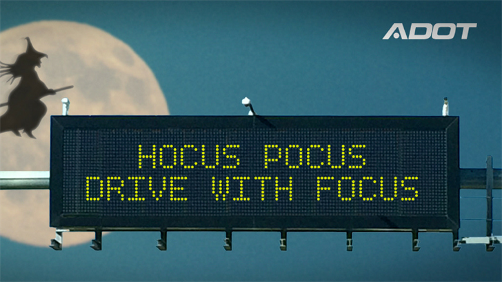 ADOT has this message for drivers on Halloween. (Source: ADOT)