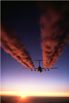 Another contrail at sunset. (Source: U.S. Air Force)