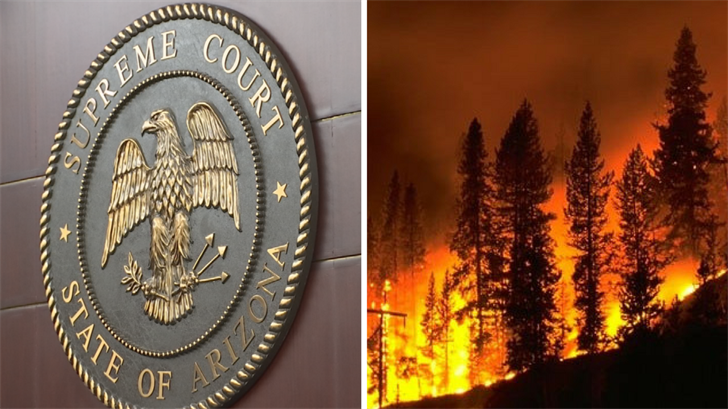 Since the Arizona Supreme Court has declined to review the case, the ruling seven months ago that the state doesn't have a legal duty to protect property from naturally caused wildfires has been upheld. (Source: 3TV/CBS 5)