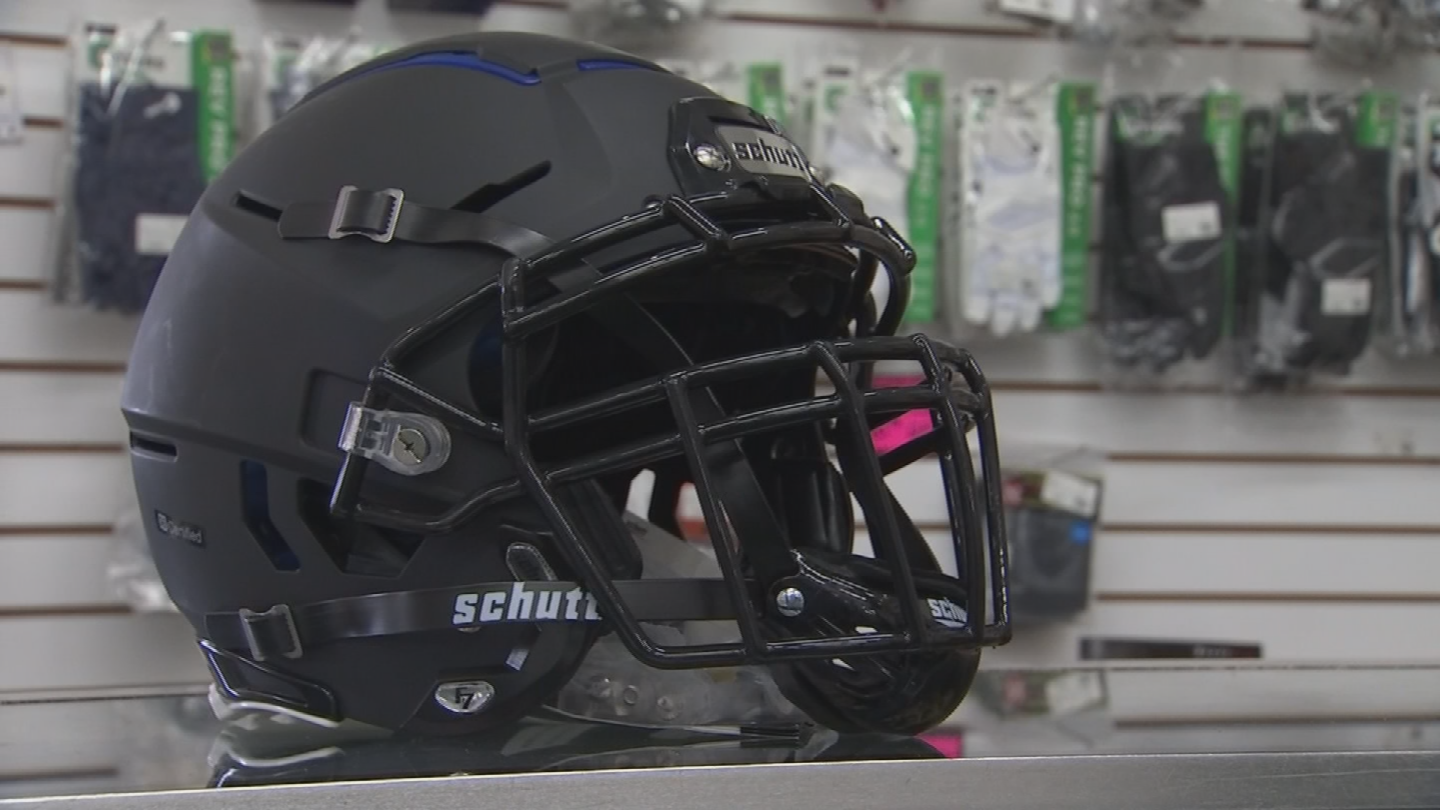 Football helmets are getting better at protecting players' heads. (Source: 3TV/CBS 5)