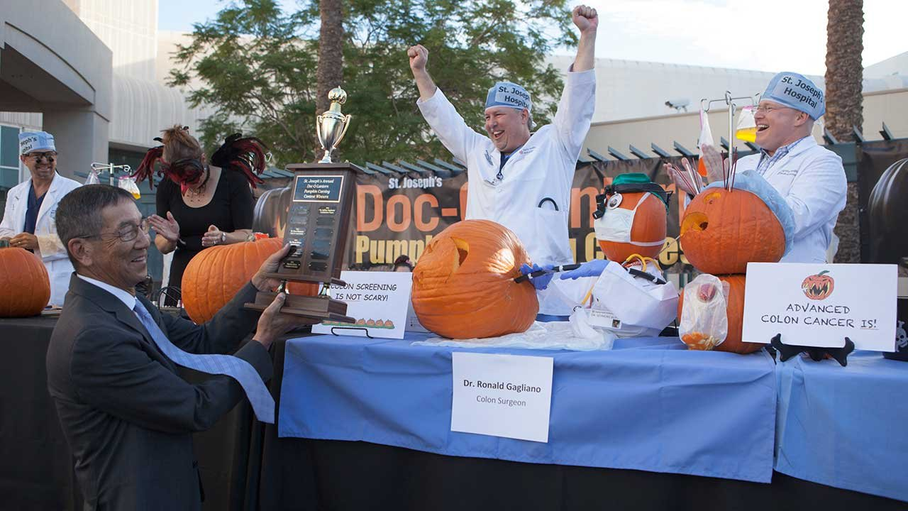 Dr. Ronald Gagliano, a specialist in colon and rectal surgery, won this year's bragging rights. (Source: Dignity Health)