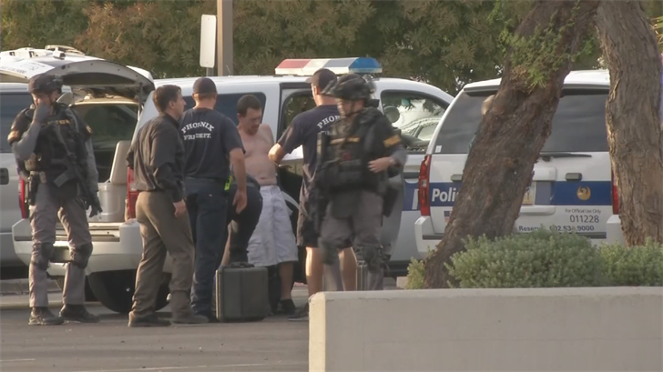 Police said the man threatened police while in a standoff at a Phoenix hotel. (Source: 3TV/CBS 5)