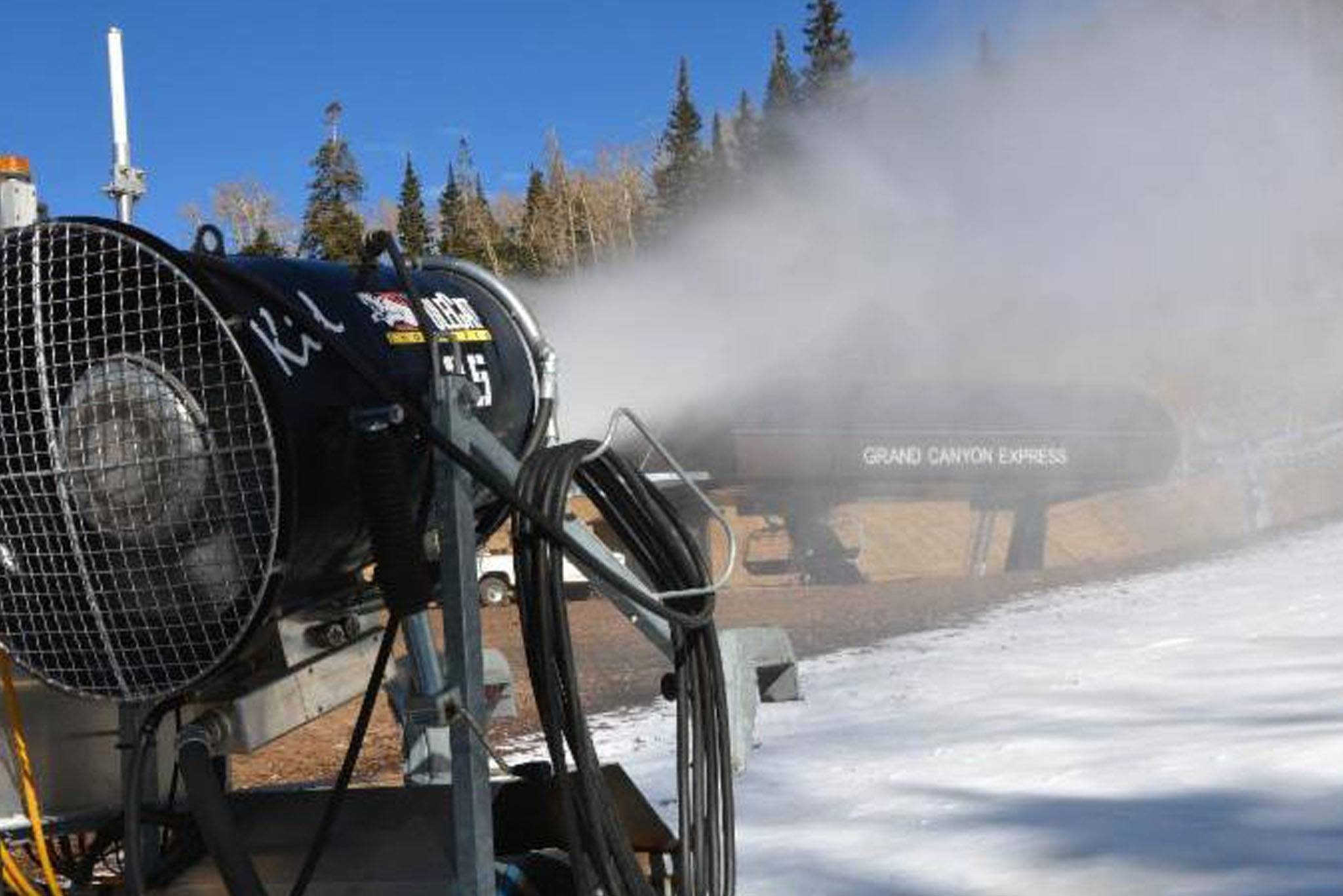 Haglin and his team started creating snow on Sept. 23. (Source: Snowbowl)