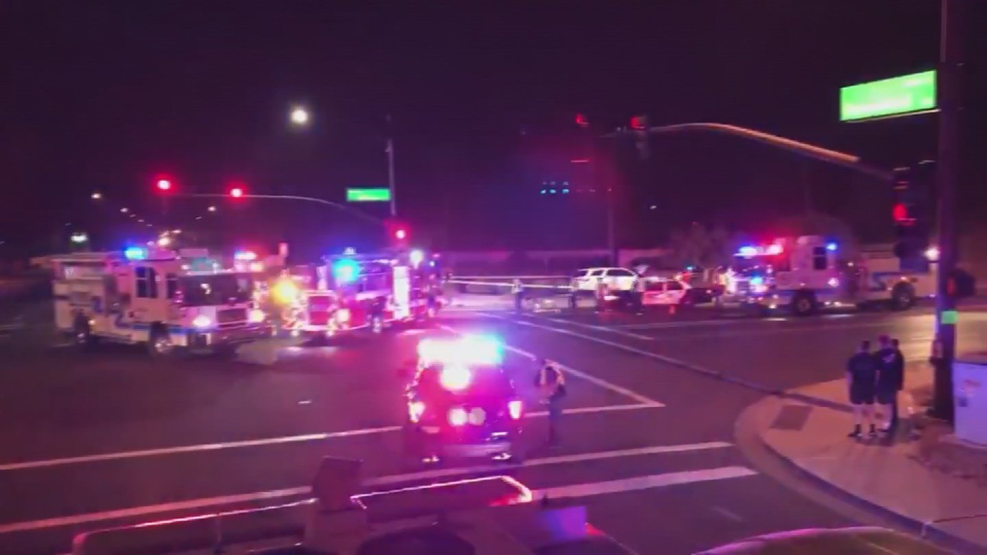 At least six people have been transported to hospitals after a serious accident in Gilbert late Tuesday night. (Source: Gilbert Fire and Medical Department)