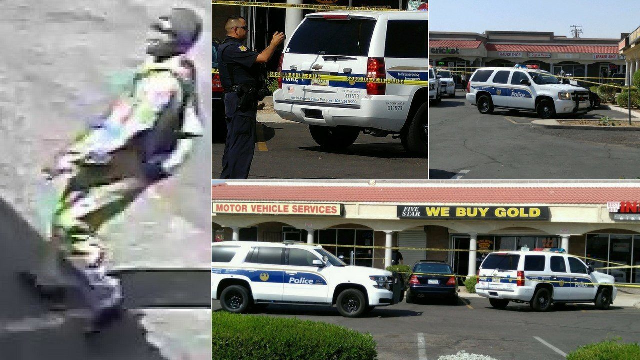 One man is dead after he was shot at a gold-buying business in Phoenix. (Source: 3TV/CBS 5/Silent Witness)