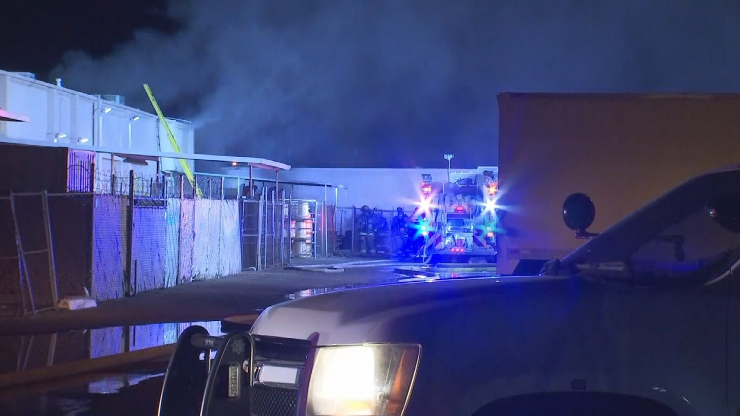 Over 50 firefighters and personnel from Phoenix and Gilbert battled a first-alarm office building fire in Phoenix early Wednesday morning. (Source: 3TV/CBS 5)