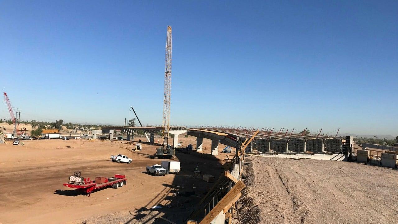 The future flyover ramp.(Source: Arizona Department of Transportation)