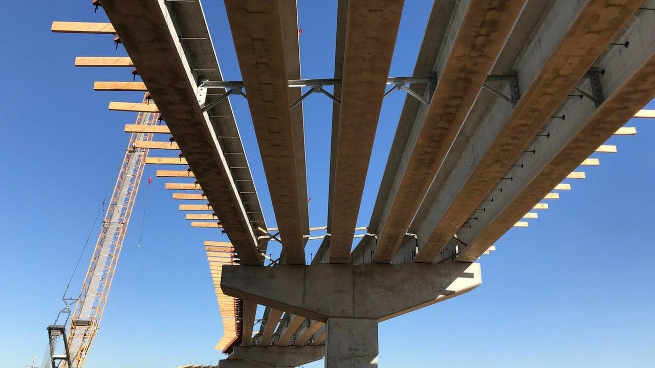 The underside of the flyover bridge.(Source: Arizona Department of Transportation)