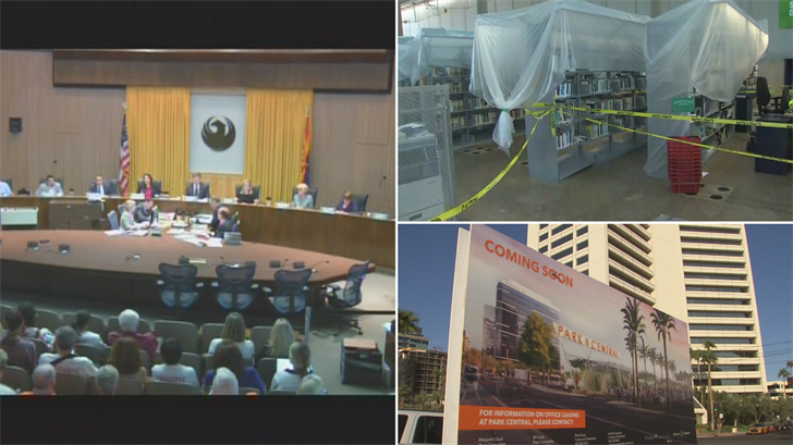 "The Phoenix City Council approved a ""pop-up"" library in central Phoenix. (Source: 3TV/CBS 5)"