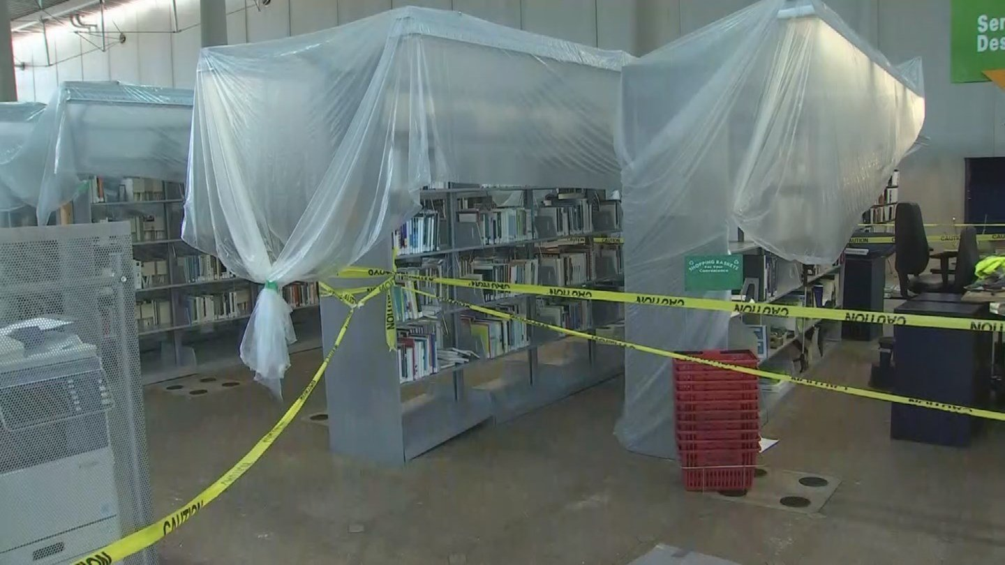 In July, monsoon storms caused Burton Barr library's failing fire suppression system to give out, flooding the building and causing millions of dollars in damage. (Source: 3TV/CBS 5)