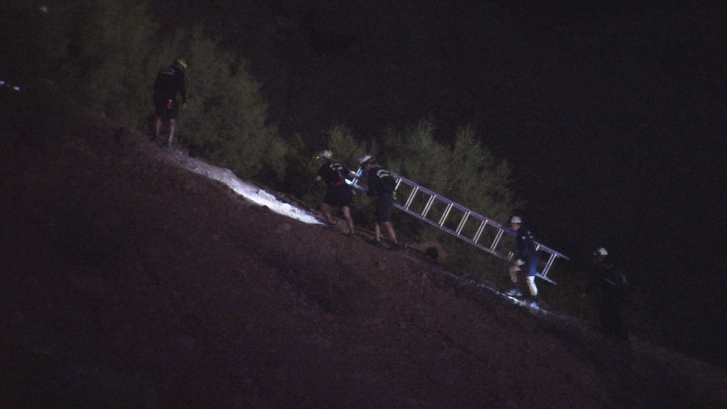 After getting in position to rescue the hiker, they safely removed him from the ledge and walked him to the bottom of the mountain. (Source: 3TV/CBS 5)