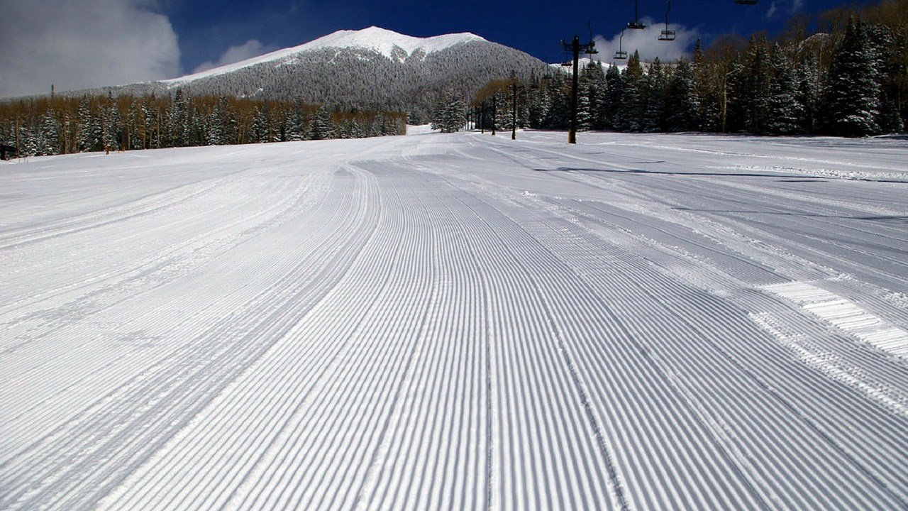 Groomed slopes ready for skiers. (SOURCE: Arizona Snowbowl)