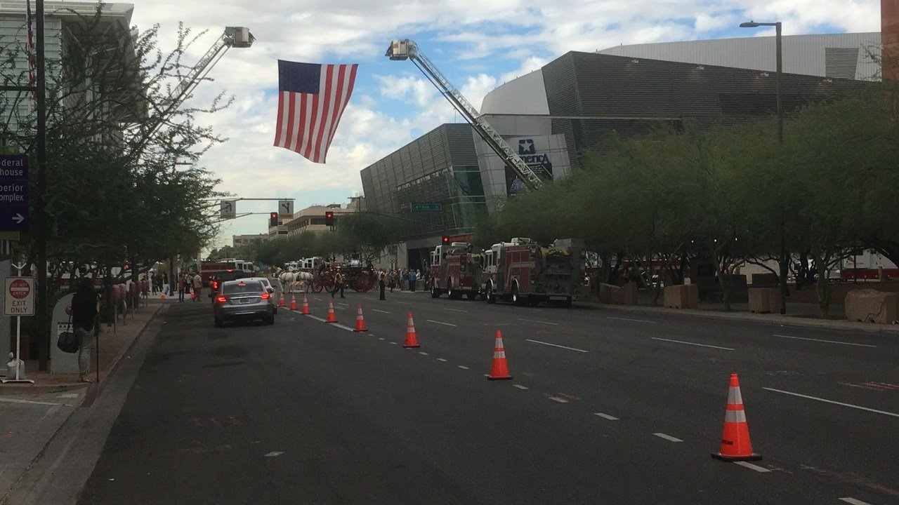Phoenix Fire Department held a memorial service for retired Fire Chief Alan Brunacini on Nov. 4 (Source: 3TV/CBS 5)