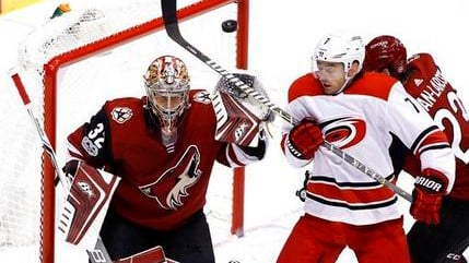 The Coyotes defeated the Hurricanes 2-1 in a shootout. (Source: AP Photo/Ross D. Franklin)