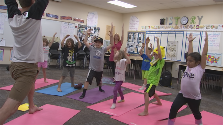 Students at Verrado Heritage Elementary School are doing yoga to de-stress. (Source: 3TV/CBS 5)