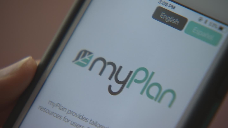 "The app is called ""myPlan."" (Source: 3TV/CBS 5)"