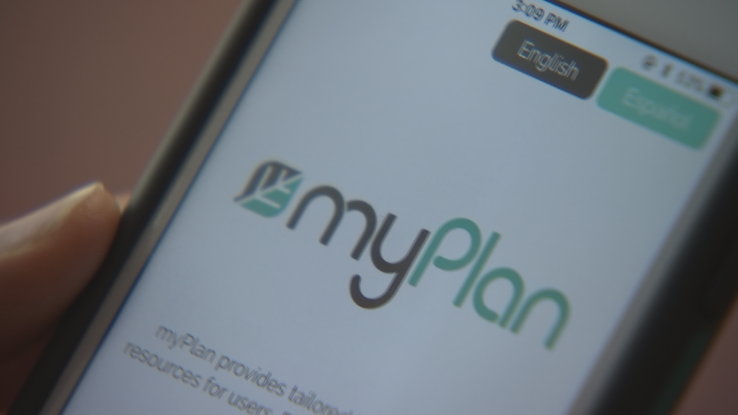 "The app is called ""myPlan."" (Source: 3TV/CBS 5)"