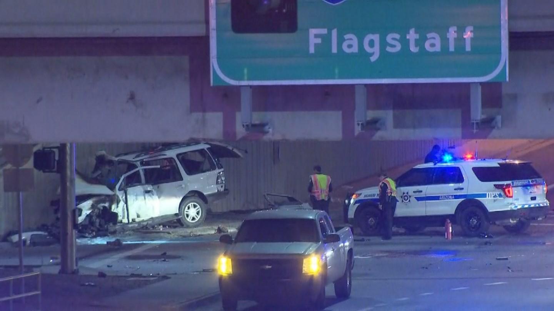 Phoenix fire Capt. Jake Van Hook said seven people were in the stolen SUV. (Source: 3TV/CBS 5)
