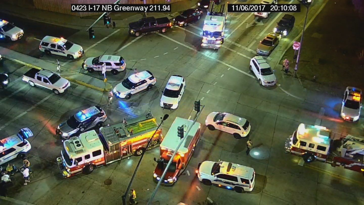 It's unclear what the relationship between the seven people are but police said the teenage driver had the same last name as somebody else in the stolen SUV. (Source: ADOT)
