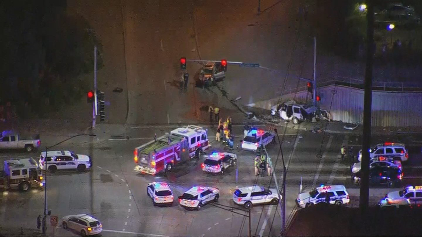 The driver of the second SUV that was hit was not seriously injured. (Source: 3TV/CBS 5)