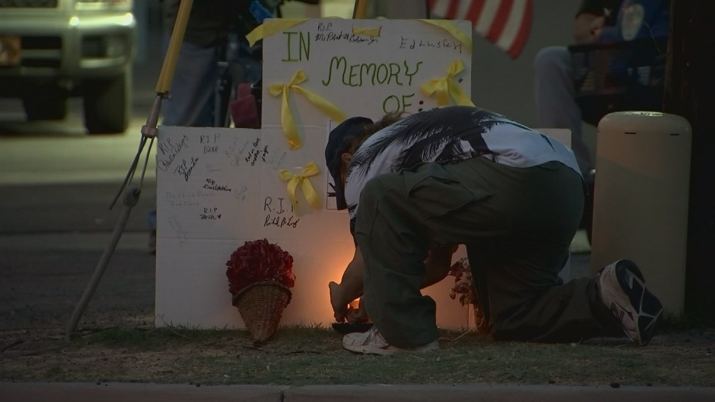 "A vigil was held for a man who was struck and killed earlier this month at a crosswalk many deem ""dangerous."" (Source: 3TV/CBS 5)"