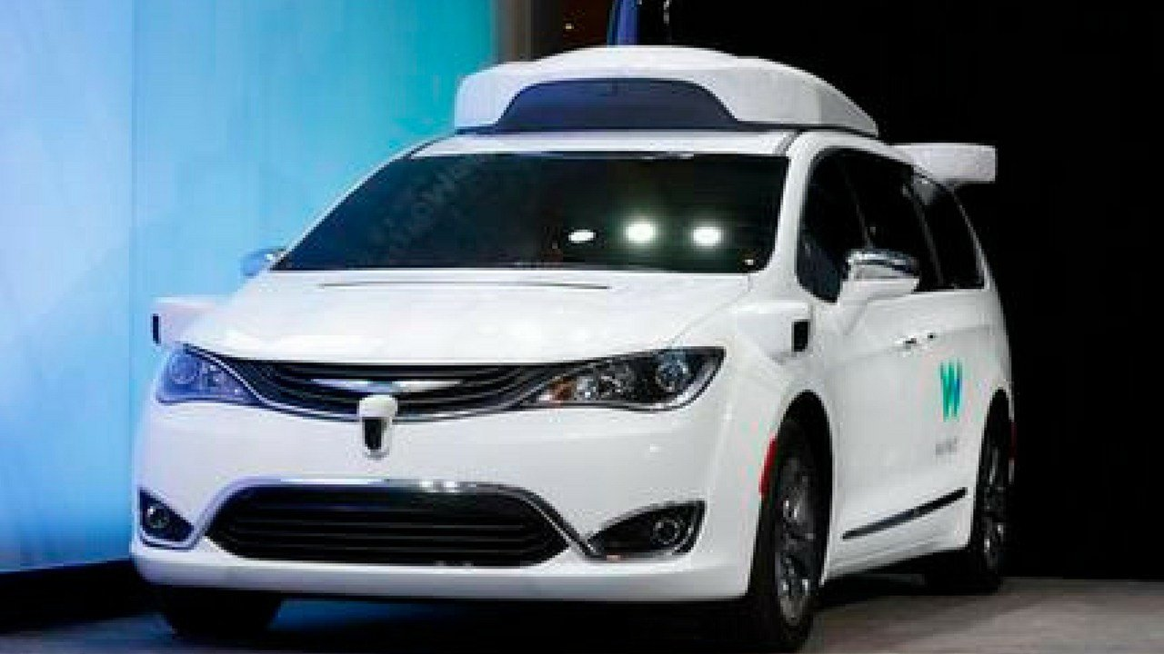Waymo is testing vehicles on public roads with only an employee in the back seat. The testing started Oct. 19 with an automated Chrysler Pacifica minivan in the Phoenix suburb of Chandler, Ariz. (Sunday, Jan. 8, 2017, file photo) (Source: Waymo)