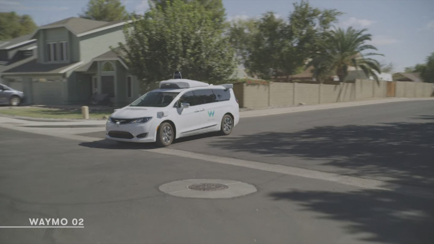 Google's Waymo announced Tuesday that its self-driving cars are now fully driverless on public roads in Arizona. That means no more human backup drivers hovering near the steering wheel. (Source: 3TV/CBS 5)