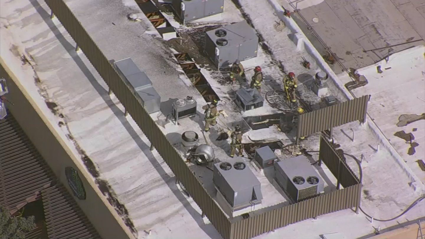 Two popular Chandler restaurants are closed for repairs after their roof caught fire Tuesday. (Source: 3TV/CBS 5)