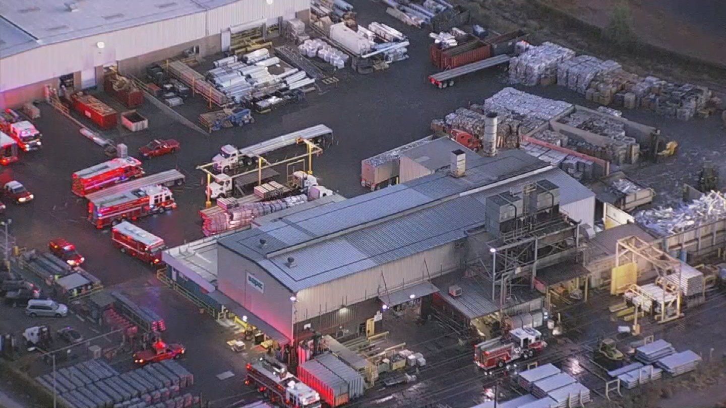 A man is dead after falling 20 feet into a pit at a Phoenix manufacturing plant early Wednesday morning. (Source: 3TV/CBS 5)