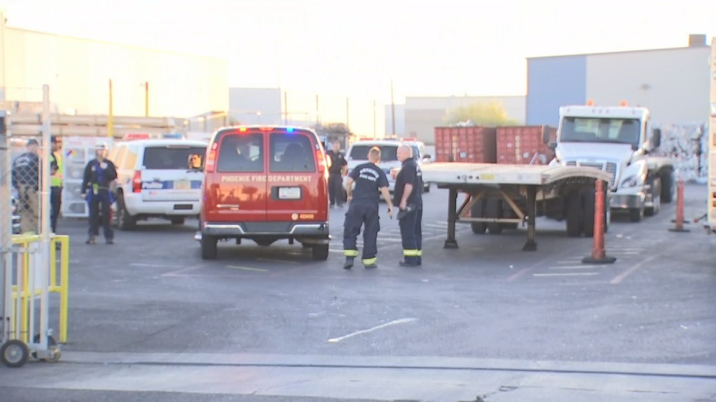 Phoenix firefighters responded to the aluminum manufacturing plant for a confined space rescue near 51st Avenue and Van Buren Street. (Source: 3TV/CBS 5)
